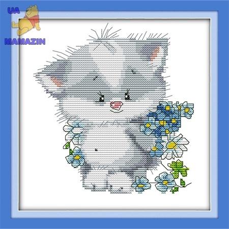 ИДЕЙКА вышивка Милый котёнок