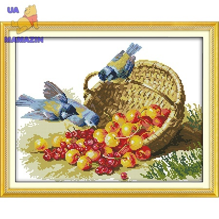 ИДЕЙКА вышивка Птицы и фрукты