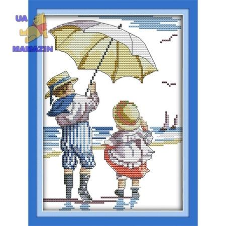 ИДЕЙКА вышивка Дети на море 1