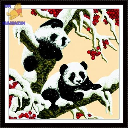 Вышивка крестиком Снежные панды