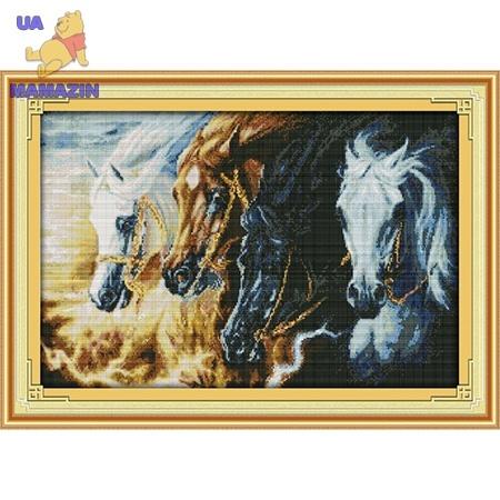 ИДЕЙКА вышивка  Непокорные кони