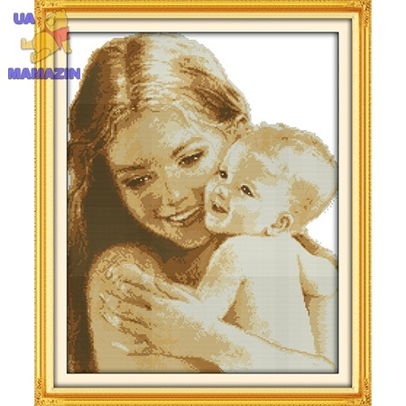 ИДЕЙКА вышивка. Мать и дитя