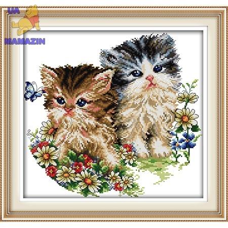 ИДЕЙКА вышивка. Котята и цветы