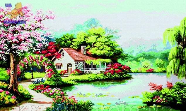 """Набор для вышивания крестом """"Весенний сад"""""""