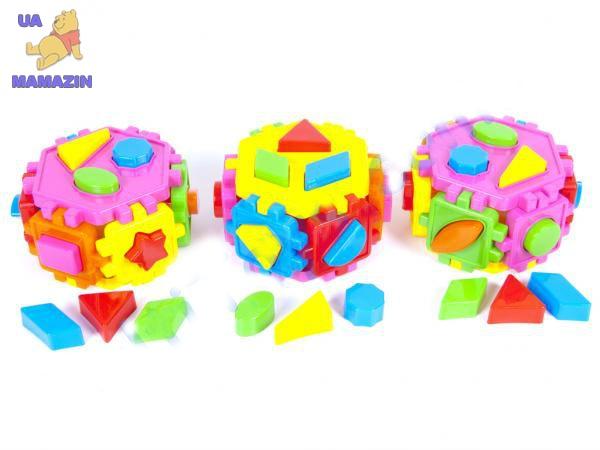 Сортер-шестигранник с геометрическими фигурами