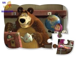 "Пазлы на магните ""Маша и глобус"" ТМ Vladi Toys"