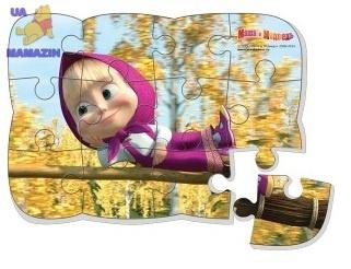 """Пазлы на магните """"Маша на метле""""  ТМ Vladi Toys"""