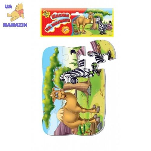 "Пазлы на магните ""Верблюд и зебра"" ТМ Vladi Toys"