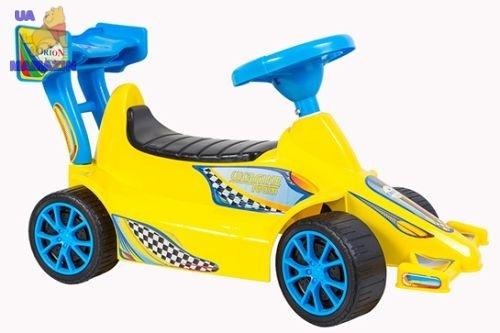 Машинка для катания СУПЕР КАР лимонная