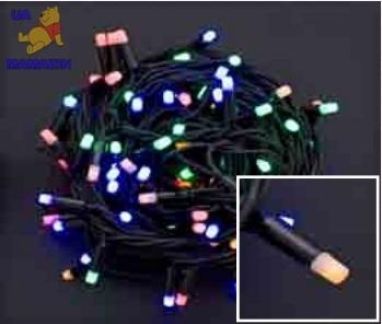 Электрогирлянда светодиодная уличная, 100 ламп, 8 м.