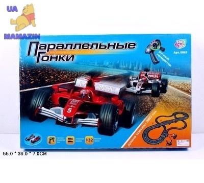 """Трек """"Параллельные гонки"""" 360 см с ручным генератором"""
