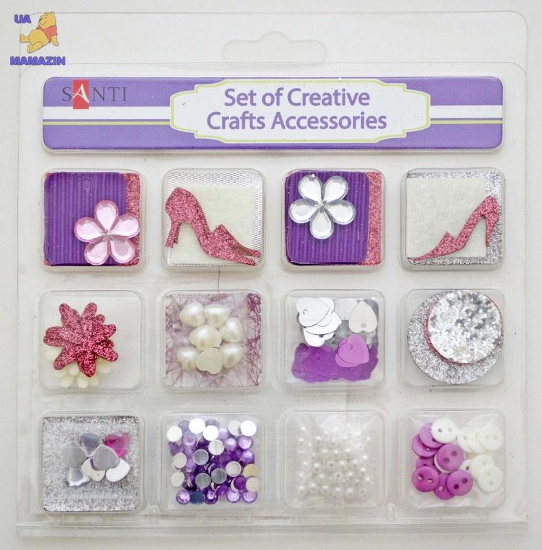 Набор декоративных украшений для скрапбукинга, фиолетовый
