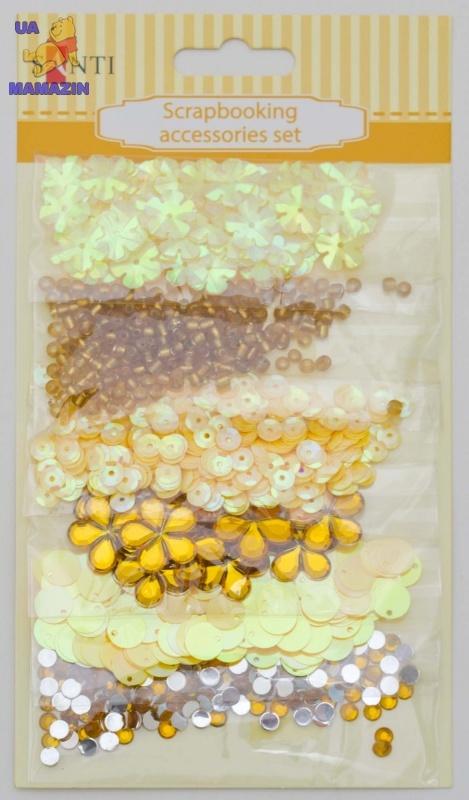 Набор декоративных украшений для скрапбукинга, желтый