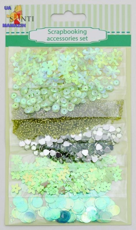 Набор декоративных украшений для скрапбукинга, зеленый