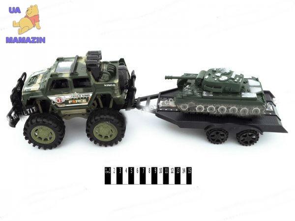 Джип инерционный с прицепом танк