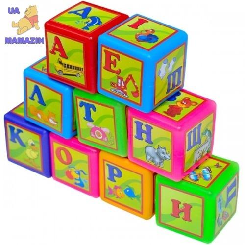 Кубики 9 Абетка малые Бамсик
