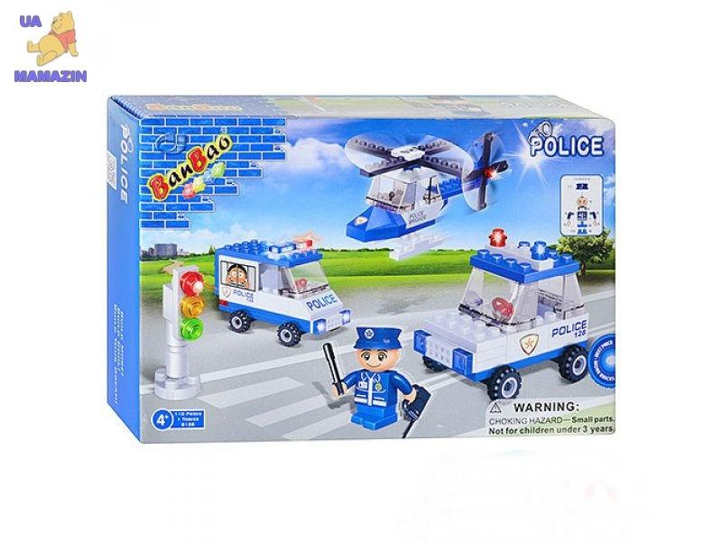 Конструктор BANBAO полицейский транспорт