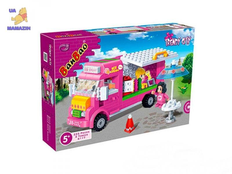 Конструктор BANBAO магазин мороженого на колесах