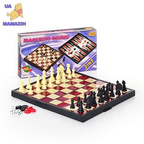 Шахматы магнитные, 3в1