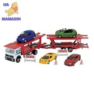 Набор игровой - Автоперевозчик + 4 Машинки