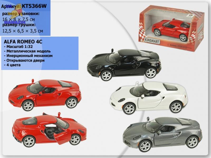 Коллекционная машинка Alfa Romeo 4C