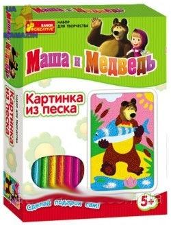 """Картинка из песка Маша и медведь """"Медведь"""""""