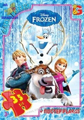 """Пазлы серии """"Frozen"""" (Ледяное сердце)  35 эл."""