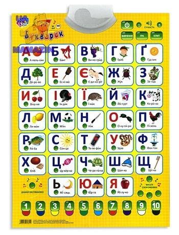 Обучающий плакат Мій Букварик  (укр.) ТМ JoyToy