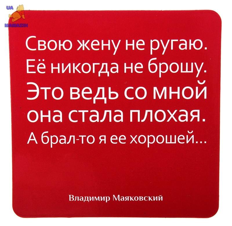 """МАГНИТ ПОЛИМЕР """"СВОЮ ЖЕНУ НЕ РУГАЮ"""""""