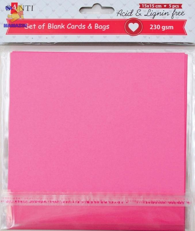 Набор розовых заготовок для открыток
