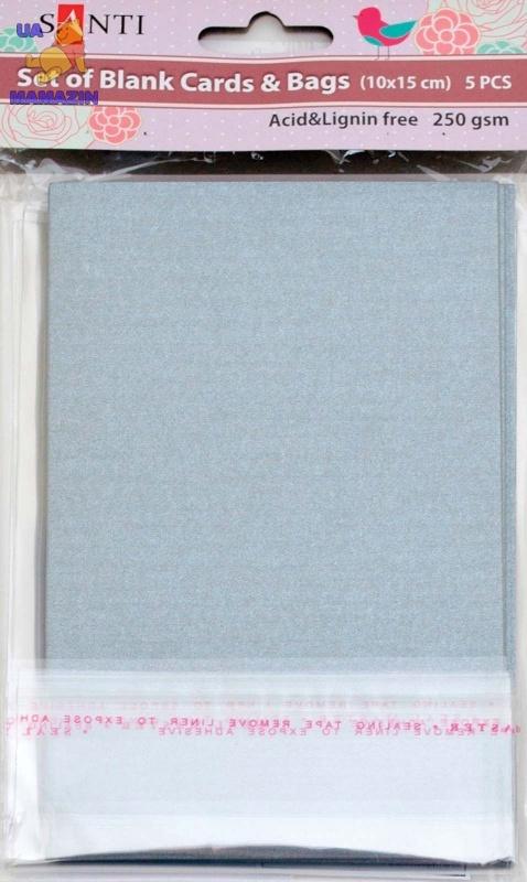 Набор серебристых перламутровых заготовок для открыток