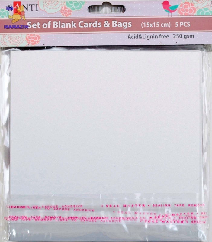 Набор белых перламутровых заготовок для открыток