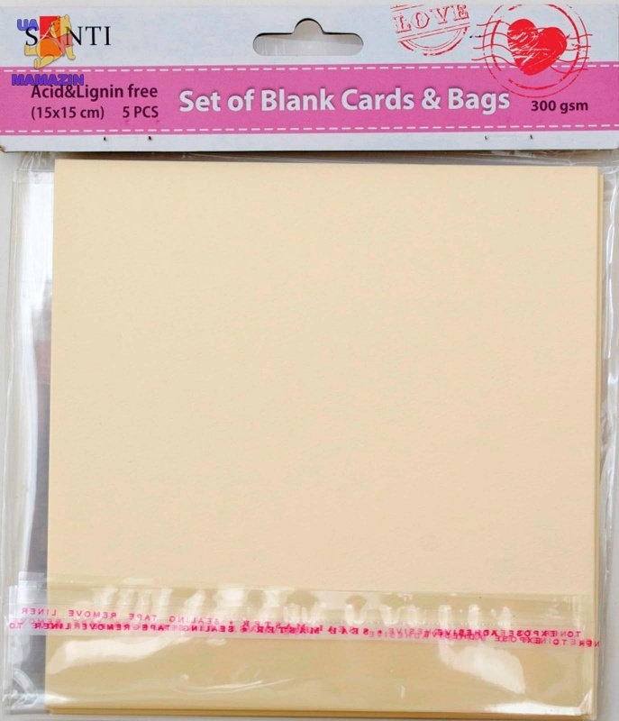 Набор кремовых текстурированных заготовок для открыток