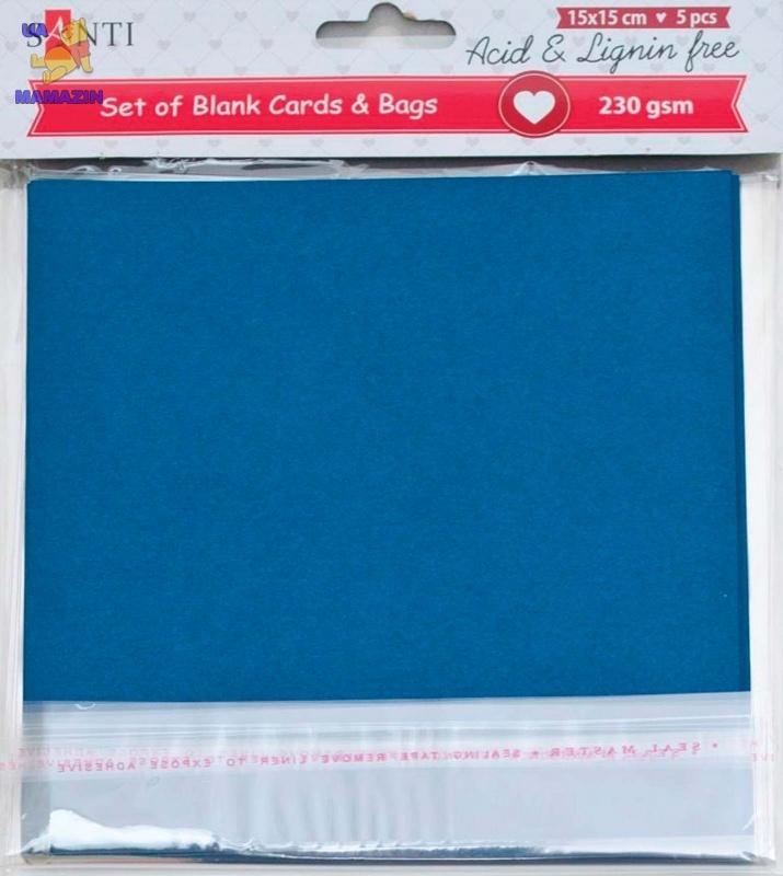 Набор темно-синих заготовок для открыток