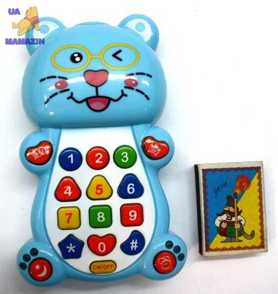Развивающий телефон-котик
