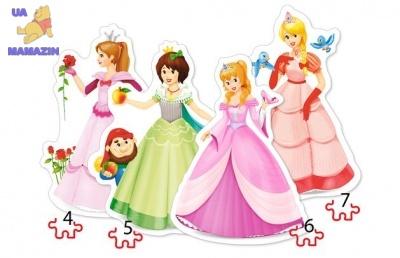 """Пазлы 4х1 """"Принцессы"""""""