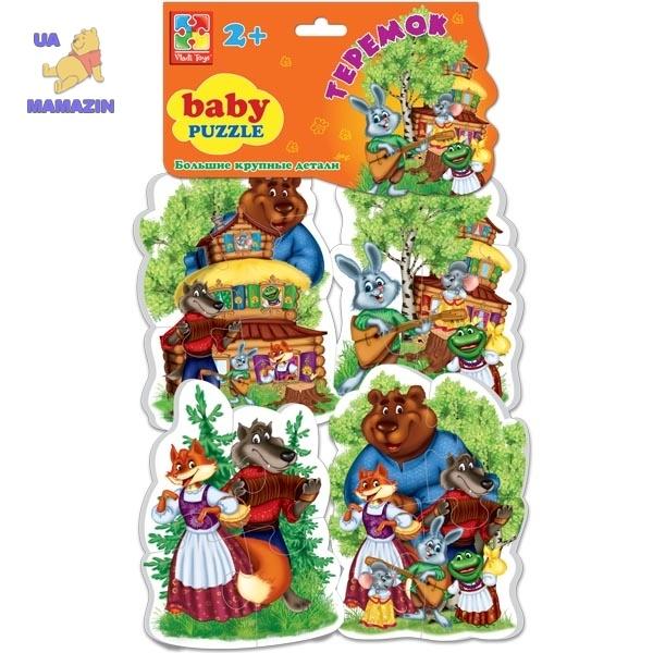 Беби пазлы Сказки Теремок ТМ Vladi Toys