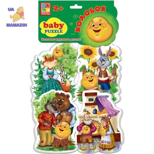 Беби пазлы Сказки Колобок ТМ Vladi Toys