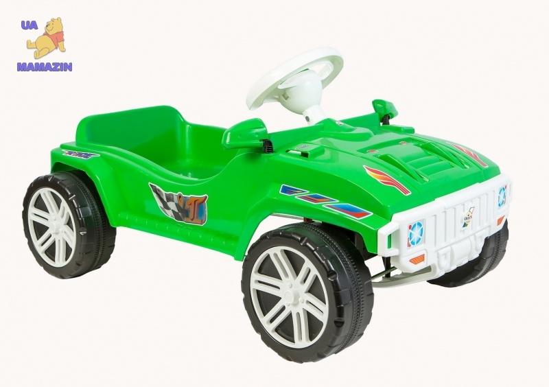 Машина для катания ПЕДАЛЬНАЯ зеленая, ТМ Орион