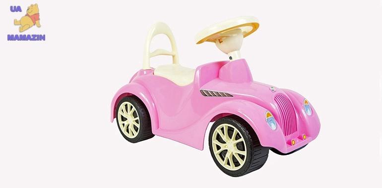 Машинка для катания РЕТРО розовая ОРИОН