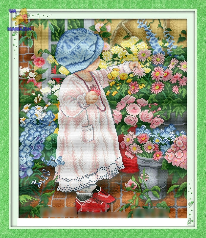 Набор для вышивки крестом Среди цветов