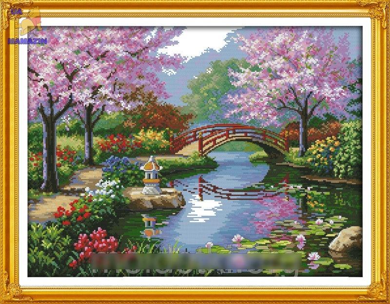 Набор для вышивки крестиком Живописный сад