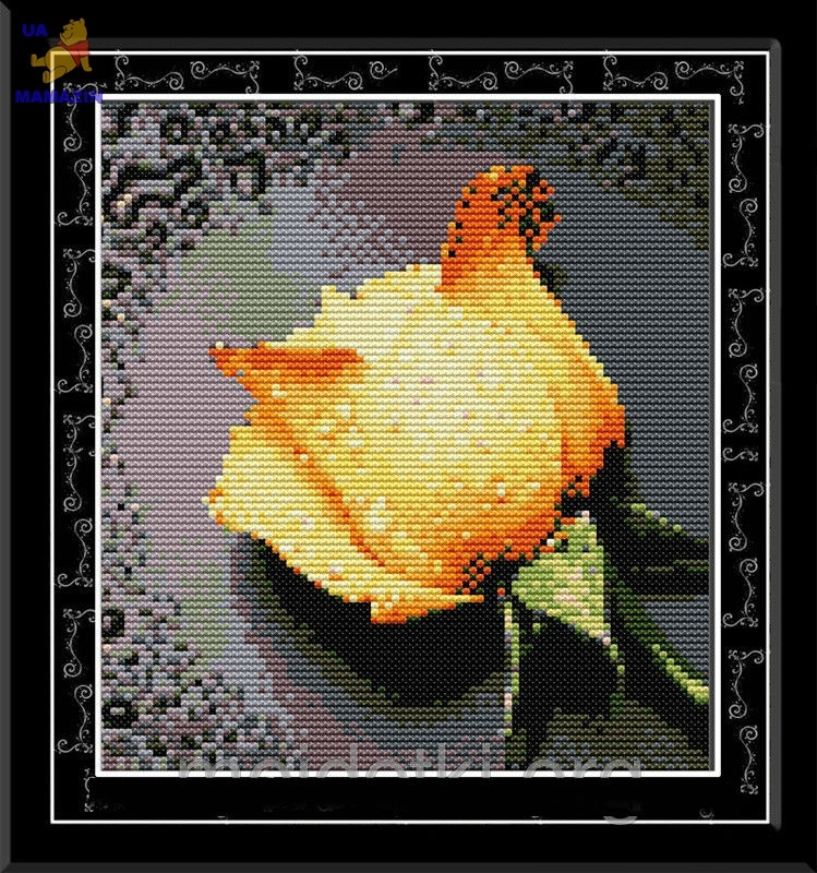 Набор вышивки крестом Жёлтая роза