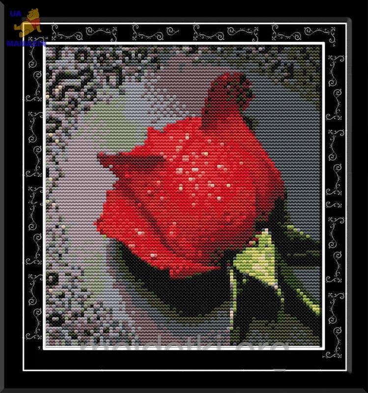 Вышивка крестом Красная роза