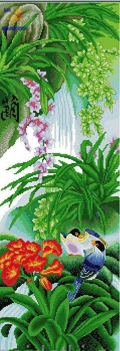Набор для вышивки крестом Райский сад