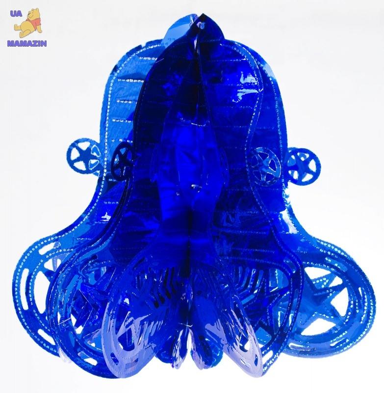 Колокольчик новогодний, 27 см, голубой