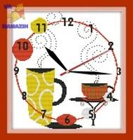 Вышивка крестом Часы. Кофейное наслаждение