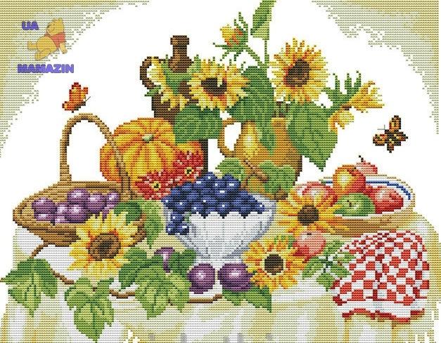 Вышивка крестом Осенний натюрморт