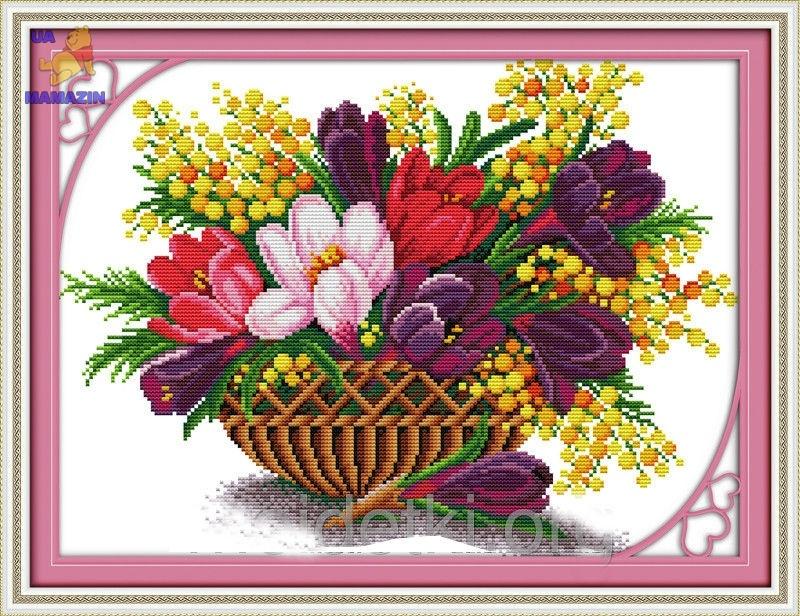 Набор для вышивки крестом Весенняя феерия