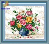 Набор для вышивки крестом Яркие цветы 1